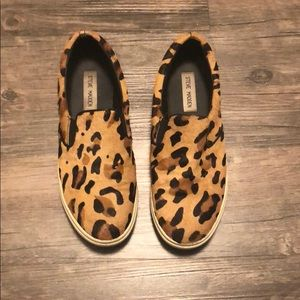Steve Madden  leopard print sneakers sz 7